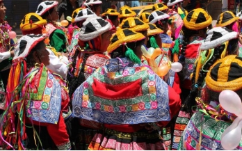 Photograph of carnival scene