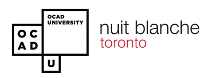 OCAD University and Scotiabank Nuit Blanche Toronto logos