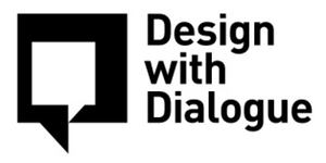 Design with Dialogue logo with speech box
