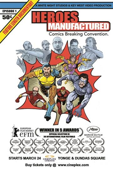 Heroes Manufactured - Comics Breaking Convention Poster