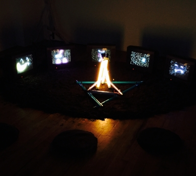 Dark image of fire