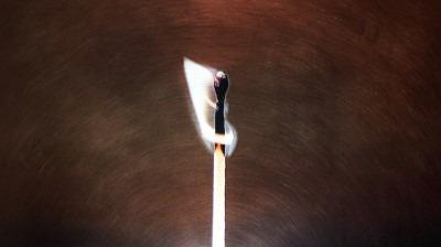 close up image of a match burning