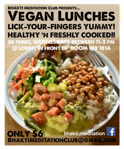 Poster with a plate of vegetarian food