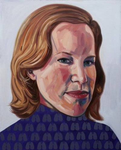 Portrait Painting of Alex Pangman