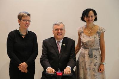 Jutta Treviranus, Director, IDRC, Hon. David D. Onley, Lieutenant Governor, Dr. Sara Diamond, OCAD U President.