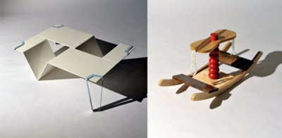 """VI"" by Anne Kwon and ""Rocking Table"" by Kinga Field."