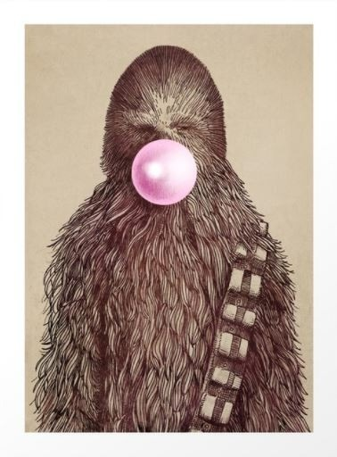 Big Chew art print by Eric Fan available on Society6