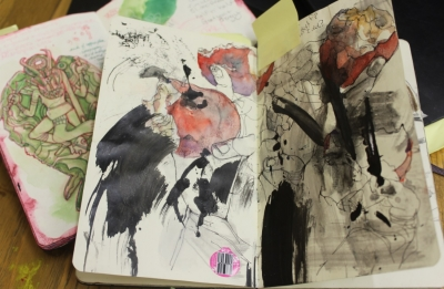 Photo of sketchbook page
