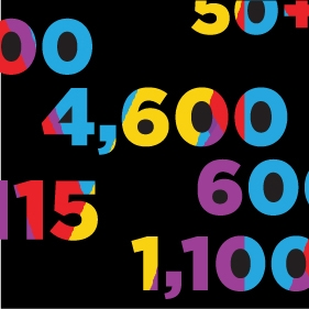 Image of colourful numbers