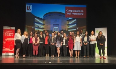 Afrooz Samaei, the winner of the OCAD U 3MT competition who represented OCAD U at the 2018 Provincial Finals 3MT Competition at