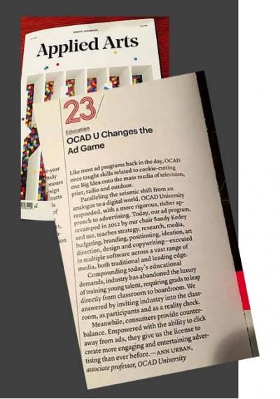 Ann Urban Applied Arts article