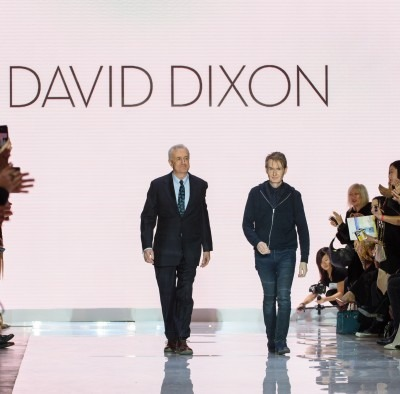 Dr. John Semple and David Dixon on runway