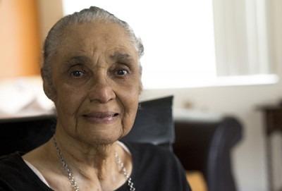 Portrait of an elderly woman of colour