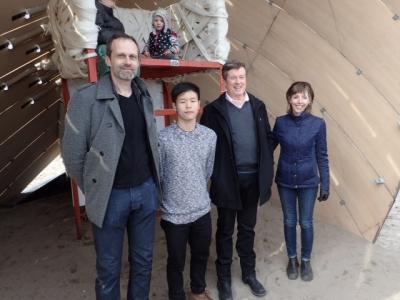 Mark Tholen, Jason Wong, John Tory and Mary-Margaret McMahon