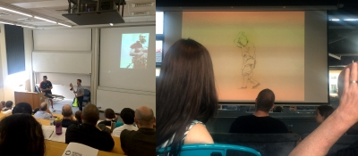 picture of animation screening in conference room