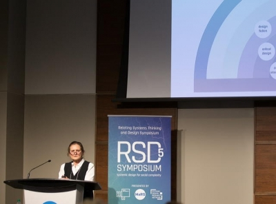 Liz Sanders presents at RSD5 Symposium
