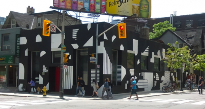 Mural painted by Kendra Yee, Meaghan Way and Meg Dearlove at Peter and Richmond Street.