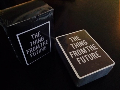 Image of card game called the thing from the future