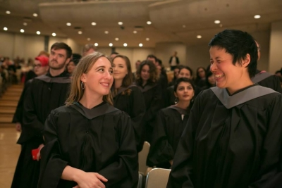 Graduate students at convocation 2017