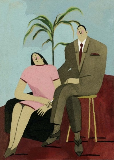 "Lily Snowden-Fine's ""Couple in a Hotel Lobby"""
