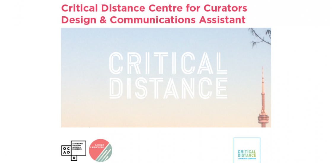 Call for Applications - Critical Distance Centre for Curators Design & Comms Assistant