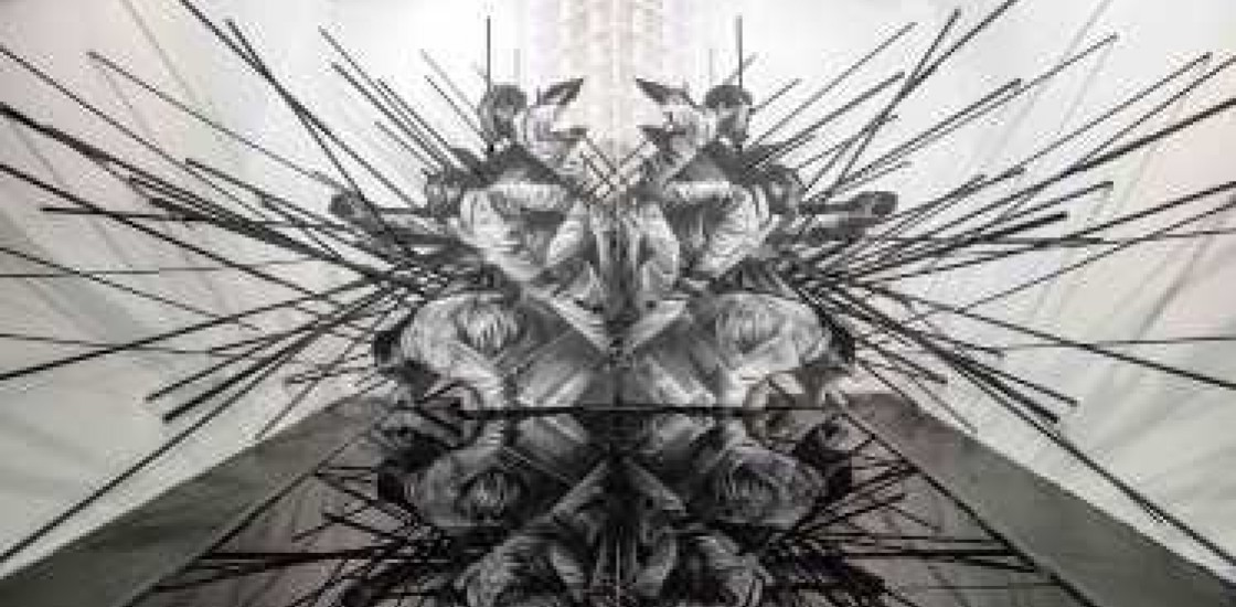 Abstract geometric artwork