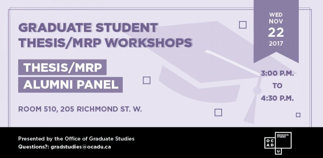 Thesis/MRP Workshop banner