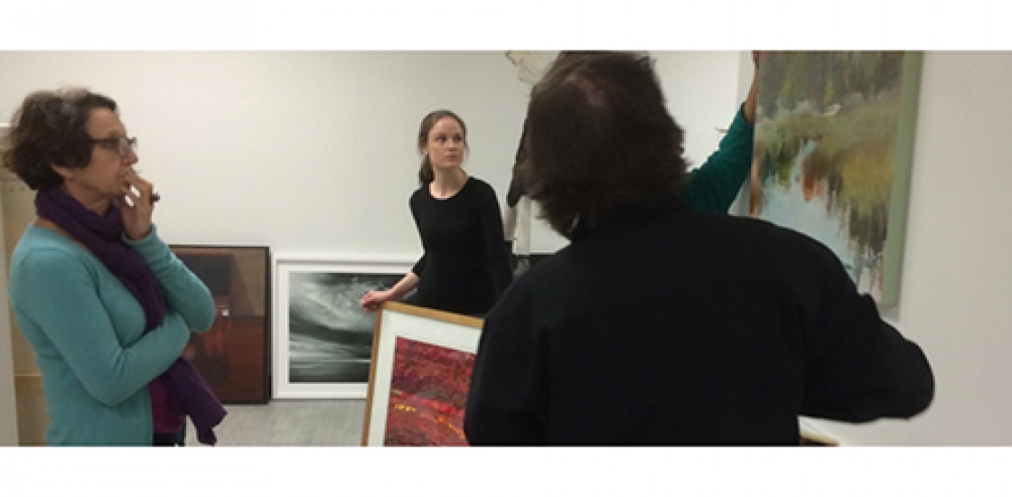 photo of Colette Laliberté and two participants in conversation