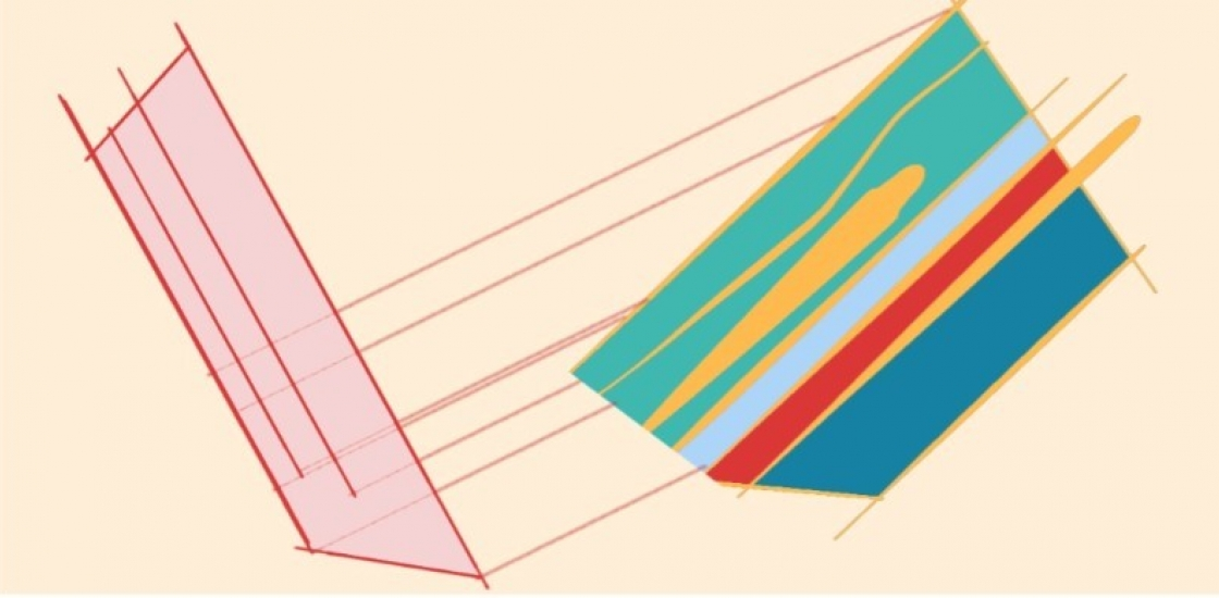 digital drawing, colourful geometric shapes and lines