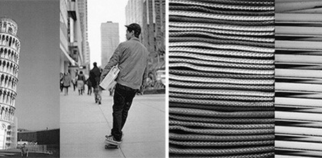 a series of black and white photos