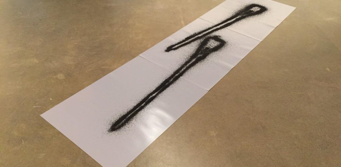 image of black sand shape on white background