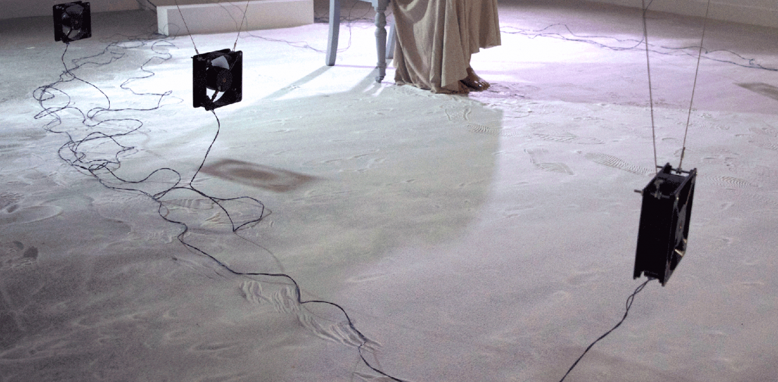 Lauren A.M. Scott performing When I Breathe the Ocean Curls (2015). Photographed by David Ballantine