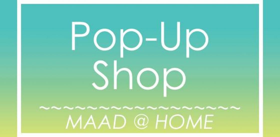 maad pop up shop banner