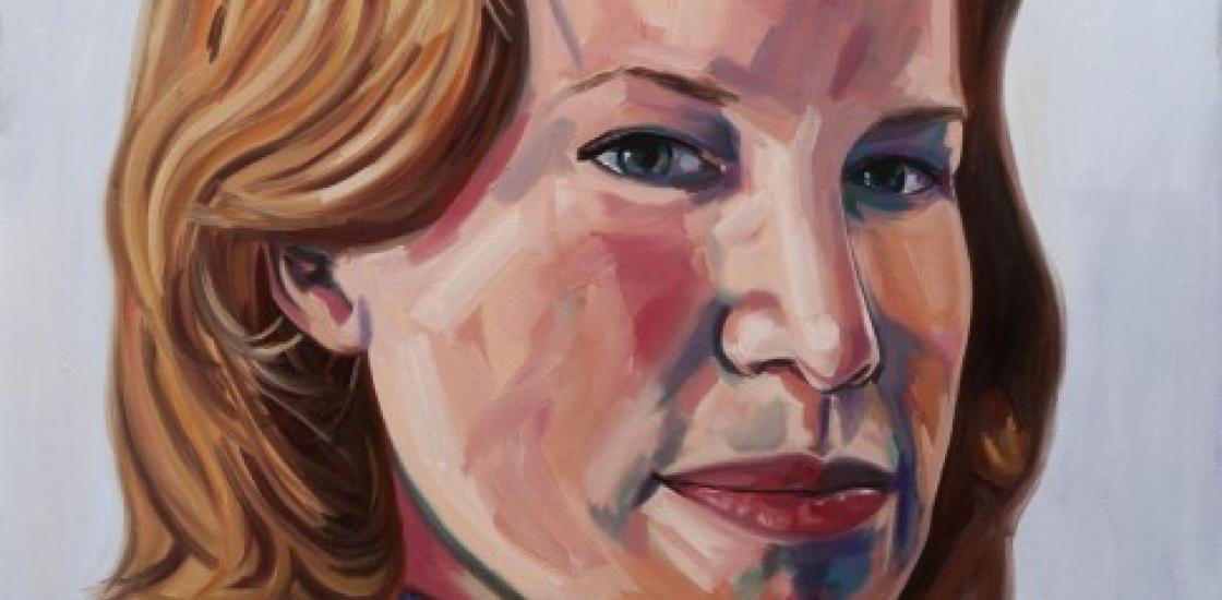 Portrait Painting of Alex Pangman
