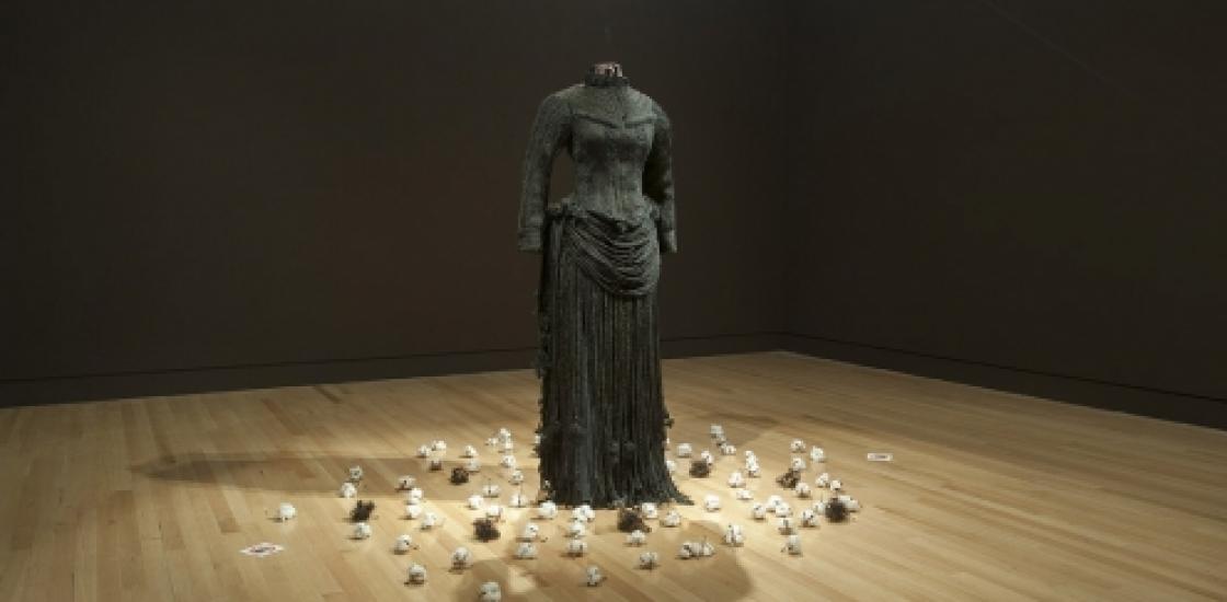 Bust of Harriet Tubman's dress