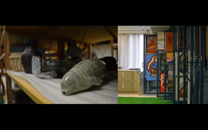 Views of the Indigenous Art Centre's vault