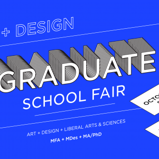 Graduate School Fair 2019 Poster Image in Blue