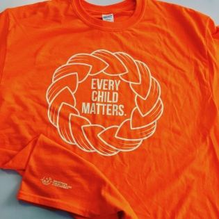 OCAD U's shirt design for Orange Shirt Day