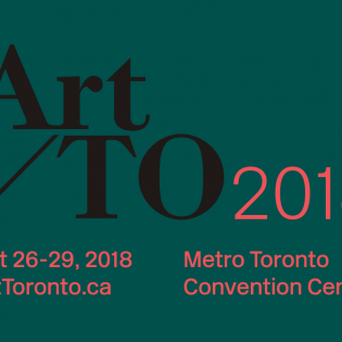 Art Toronto 2018 logo, text on green background