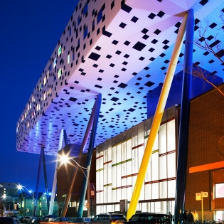 Image of the Sharp Centre at night