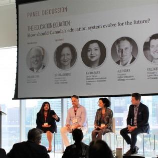 Dr. Sara Diamond (second from right) at Canada Future Forward Summit