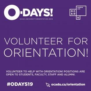 Image graphic for orientation volunteering