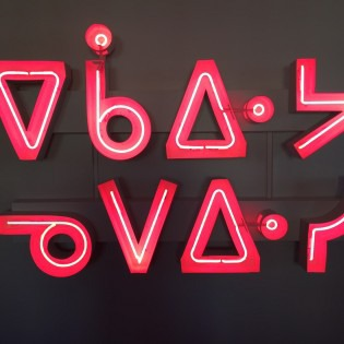 Artwork made with neon signage