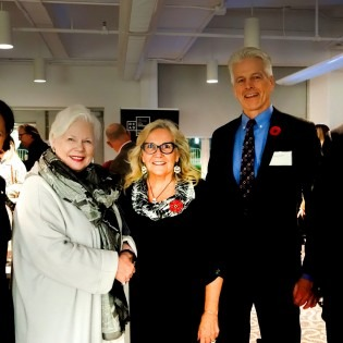 l-r: Dr. Sara Diamond, Lieutenant Governor Elizabeth Dowdeswell, Dr. Marie Wilson,MPP Chris Glover and Dr. Bob Phillips