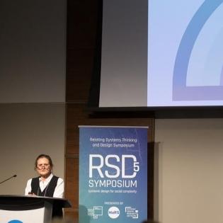 Liz Sanders presents at RSD5 Symposium