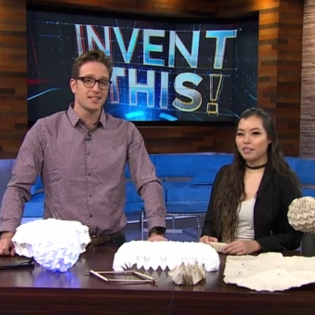 Daily Planet host Dan Riskin with Angel Ho, OCAD U alumna
