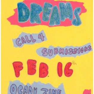 dreams, call 4 submissions, feb 16, ocadu zine collective