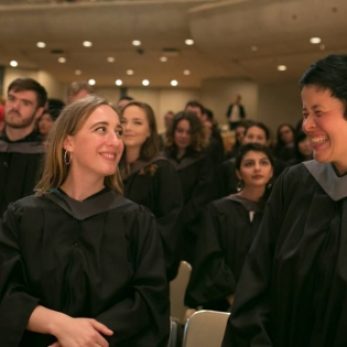 Graduate students at convocation 2017