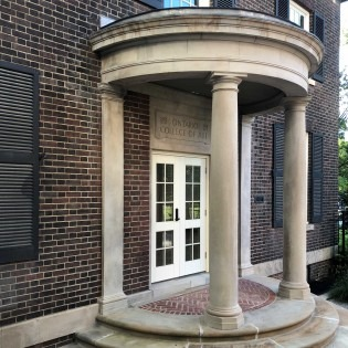 Photo of the exterior of George Reid House portico