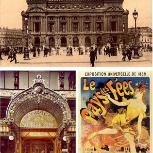 - Anonymous, Opéra Garnier. Picture postcard, 1880s - Grands Magasins de la Samaritaine. Autochrome, c. 1910 - Jules Chéret, pos